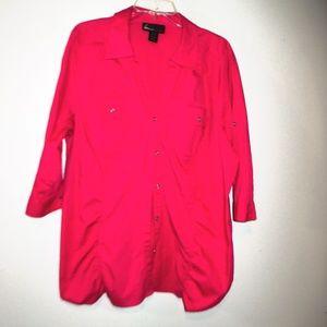 Lane Bryant hot Pink blouse size 22/24